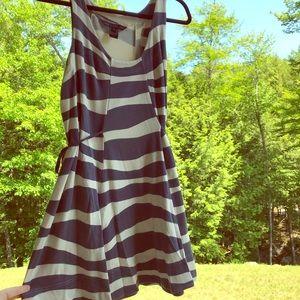 Marc by Marc Jacobs striped, side-tie mini dress.